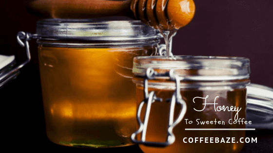 sweeten coffee with honey