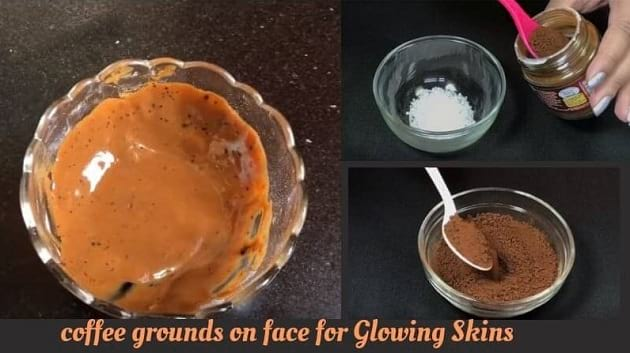benefits of coffee grounds on face